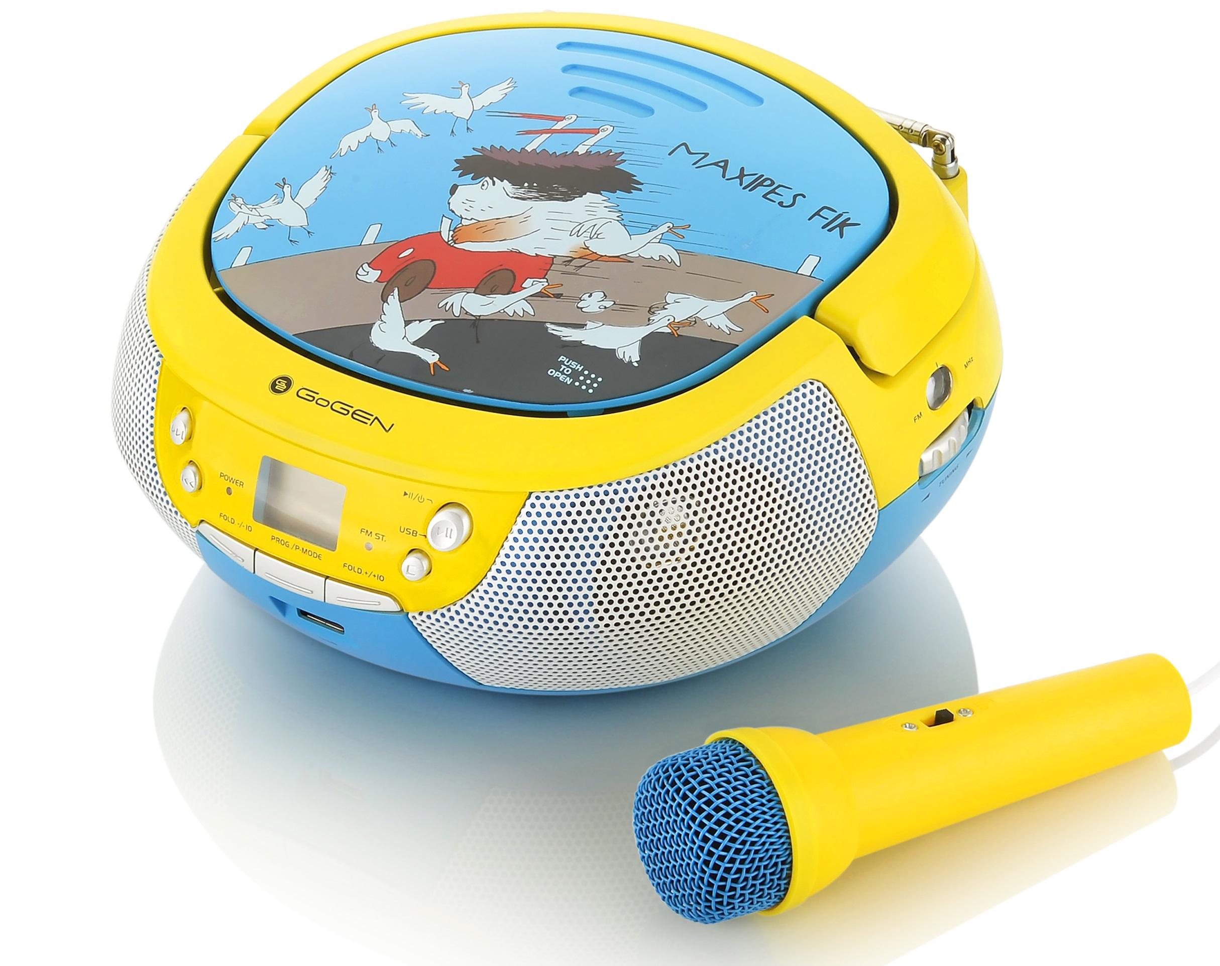 GoGEN Maxipes Fik MAXIprehrávač Karaoke yellow